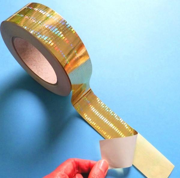 """Sicherheitsklebeband Hologramm-Papier, gold-glänzend, """"SIEGEL-SEAL-CACHET"""""""