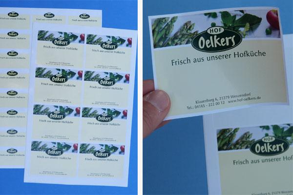 Bedruckte A4 Bogen Laserdrucker