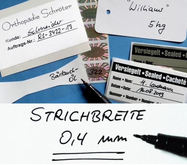 Folienstift S, Strichbreite 0,4 mm, schwarz