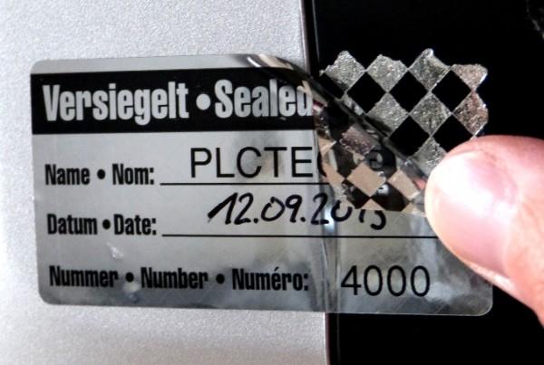 Nummerierte Sicherheitssiegel - Schachbrettmusterfolie